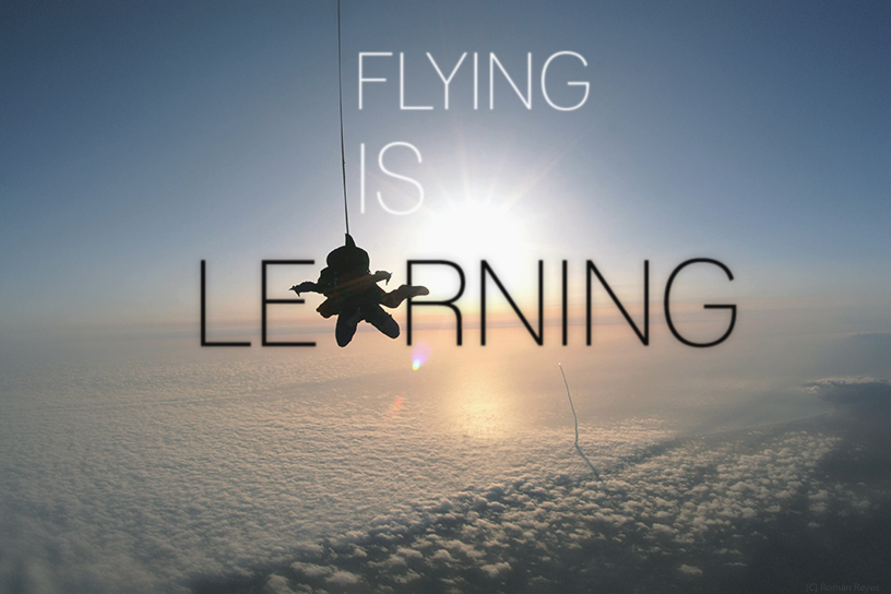 flying is learning by Román Reyes