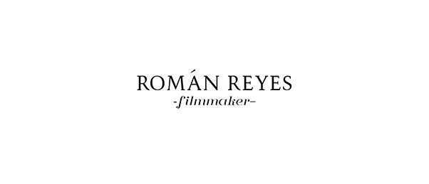 Román Reyes - filmmaker logo by SENSA design